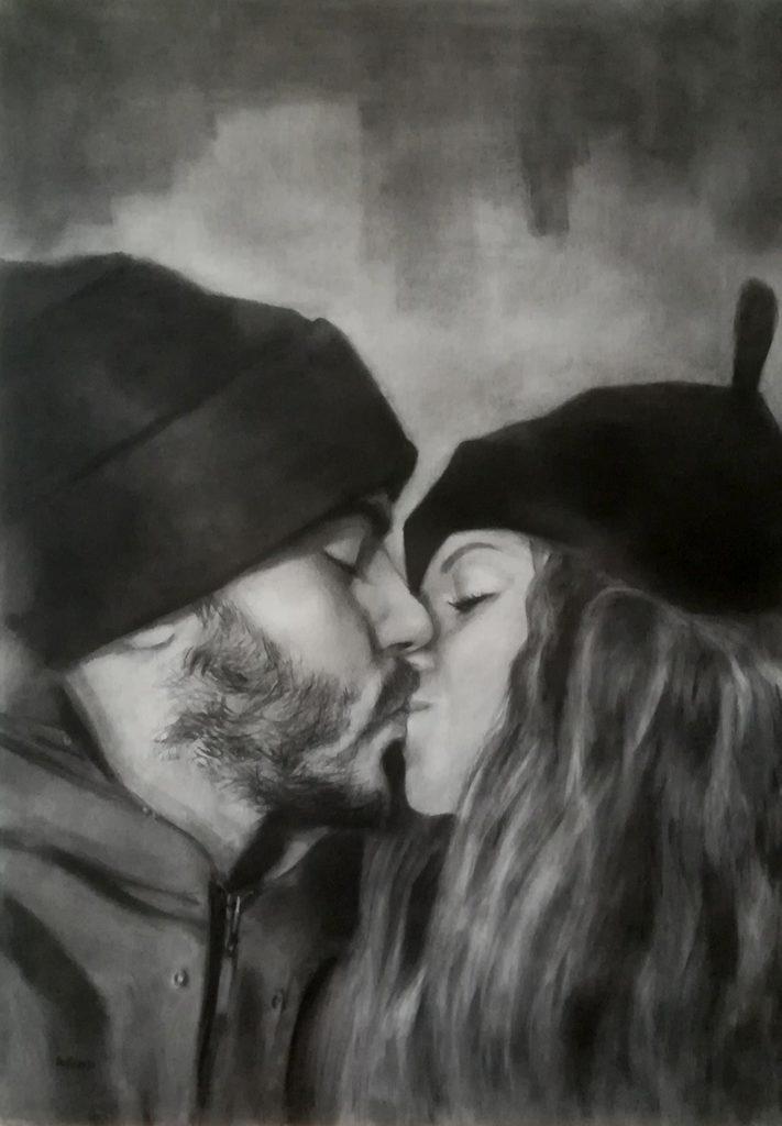 ritratto su commissione il bacio simone